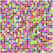 Stock Vector: Retro circle multicolored abstract pattern