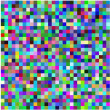 Retro pixel multicolored abstract pattern — Stock Vector
