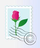 Stamp mark with rose — Cтоковый вектор