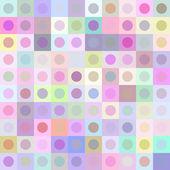 Retro multicolored circle pattern — Stock Vector