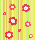 Strips with flowers — Stock Vector