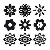 Set of flower tattoo — Stock Vector