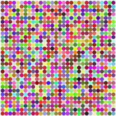 Retro circle multicolored abstract pattern — Stock Vector