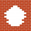 Wall break - Stock Vector