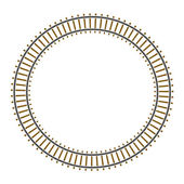 Infinity circle train railway track — Stock Vector