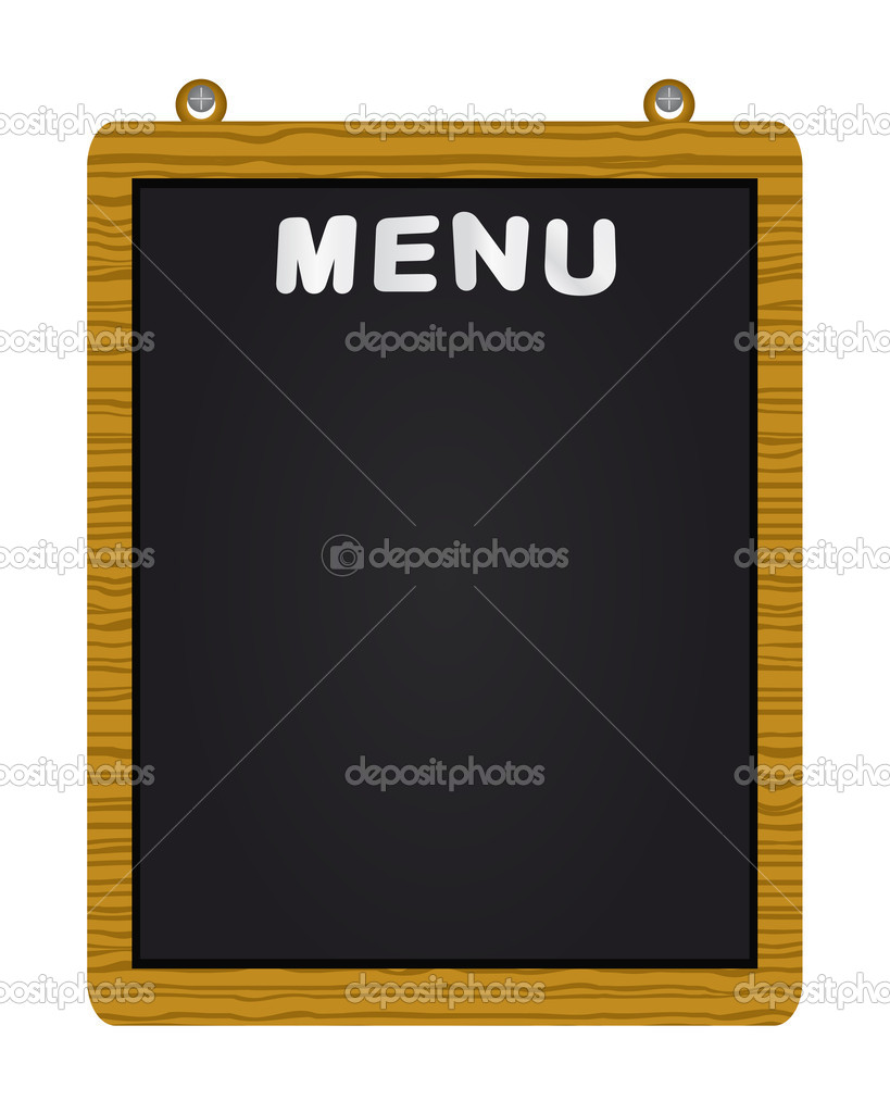 Menu on blackboard,  illustration — Stock Vector #3731760