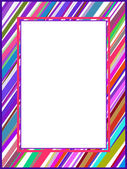 Abstract colorful lines frame — Stock Vector