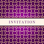 Invitation ornate red card — Stock Photo