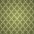 Seamless green wallpaper - Stok Vektör
