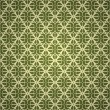 Seamless green wallpaper — Stok Vektör