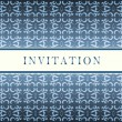 Invitation blue card — Stock Vector #3858904