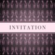 Invitation pink card — Stock Vector #3859623