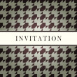 Stock Vector: Invitation design pattern card
