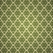 Seamless green wallpaper — Stock Vector