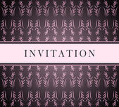 Invitation pink card — Stock Vector