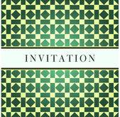 Template green design for invitation — Stock Vector