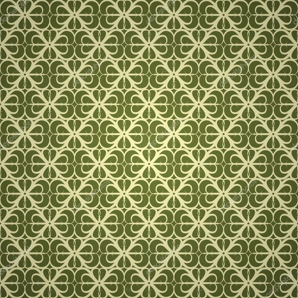 Seamless green ornament wallpaper — Stock Vector #3854996