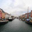 Nyhavn. Copenhagen harbor — Stock Photo