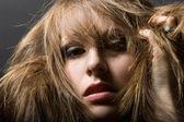 Portrait of bizarre teenager girl — Stock Photo