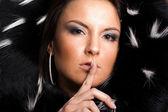 Ritratto di donna glamour — Foto Stock