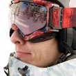 Headshot of snowboarder — Stock Photo