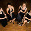 Постер, плакат: Clarinet quartet performance