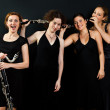Four womens with clarinets - Stock Photo
