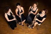 Clarinet quartet performance — Zdjęcie stockowe