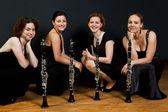 Quatre womens avec clarinettes — Photo