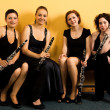 Постер, плакат: Cheerfull clarinet quartet