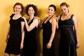 四个漂亮的女人 — 图库照片