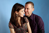 Women and her angry boyfriend — Stockfoto