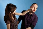 Women punching men — Stock Photo