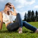 Teenager enjoying good weather — Stock Photo #3593949