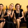 Bizzare clarinetits - Stock Photo