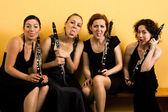 Bizzare clarinetits — Stock Photo