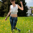 Teenager enjoying good weather — Stockfoto