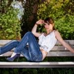 Fashionable teenager girl — Stock Photo