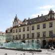 Wroclaw square with a fountain — Stock Photo