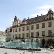 Wroclaw square with a fountain — Stock Photo #2892928