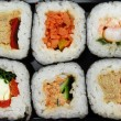 Stock Photo: Sushi futomaki selection