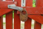Old rusty padlock — Stock Photo