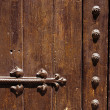 Ancient door detail - Stock Photo