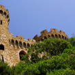 Sant Joan castle in Lloret De Mar, Costa Brava - Stock Photo