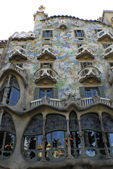 Casa Batllo by Antoni Gaudi in Barselona — 图库照片