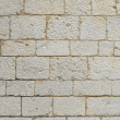 Ancient white brick wall — Stock Photo