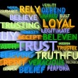 3d trail perspective TRUST's word-cloud — Stockfoto