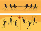 Vektor-illustration. puppen auf die erholung. — Stockvektor