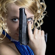 Woman with gun — Stock Photo #2997609