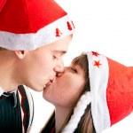 Christmas kiss — Stock Photo #2997838